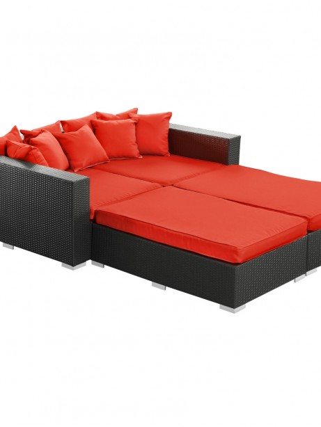 Houston Outdoor Red Lounge Bed 461x614