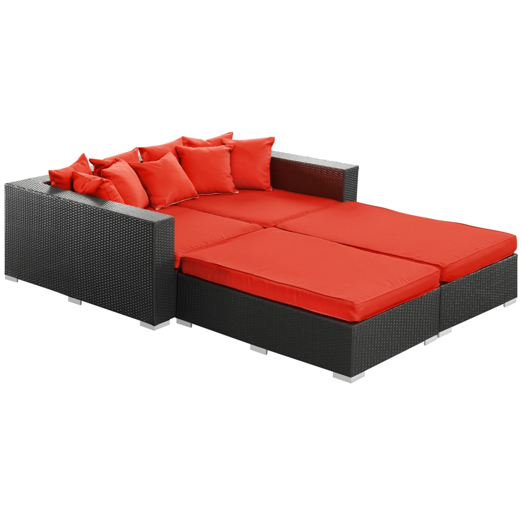 Houston Outdoor Red Lounge Bed
