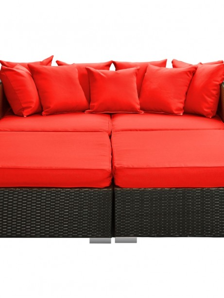 Houston Red Outdoor Lounge Bed 461x614