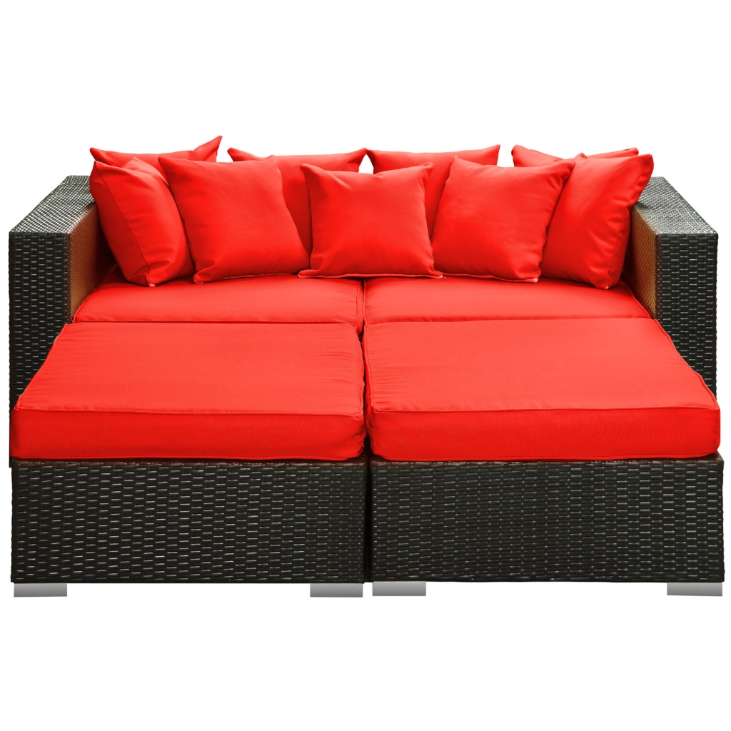 Houston Red Outdoor Lounge Bed
