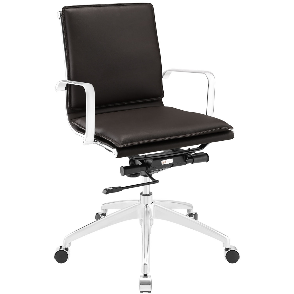 Instant Agent Low Back Brown Office Chair
