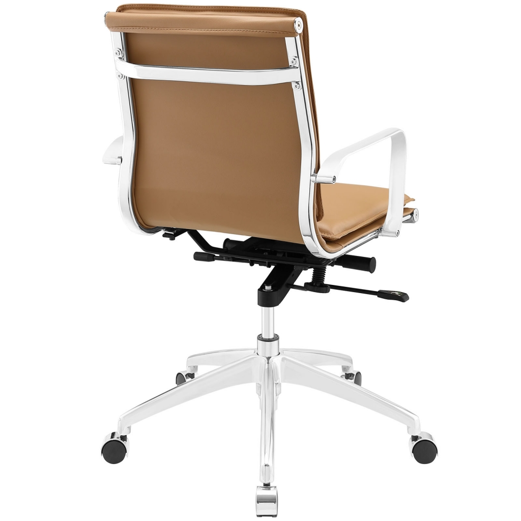 Instant Agent Low Back Tan Office Chair 3