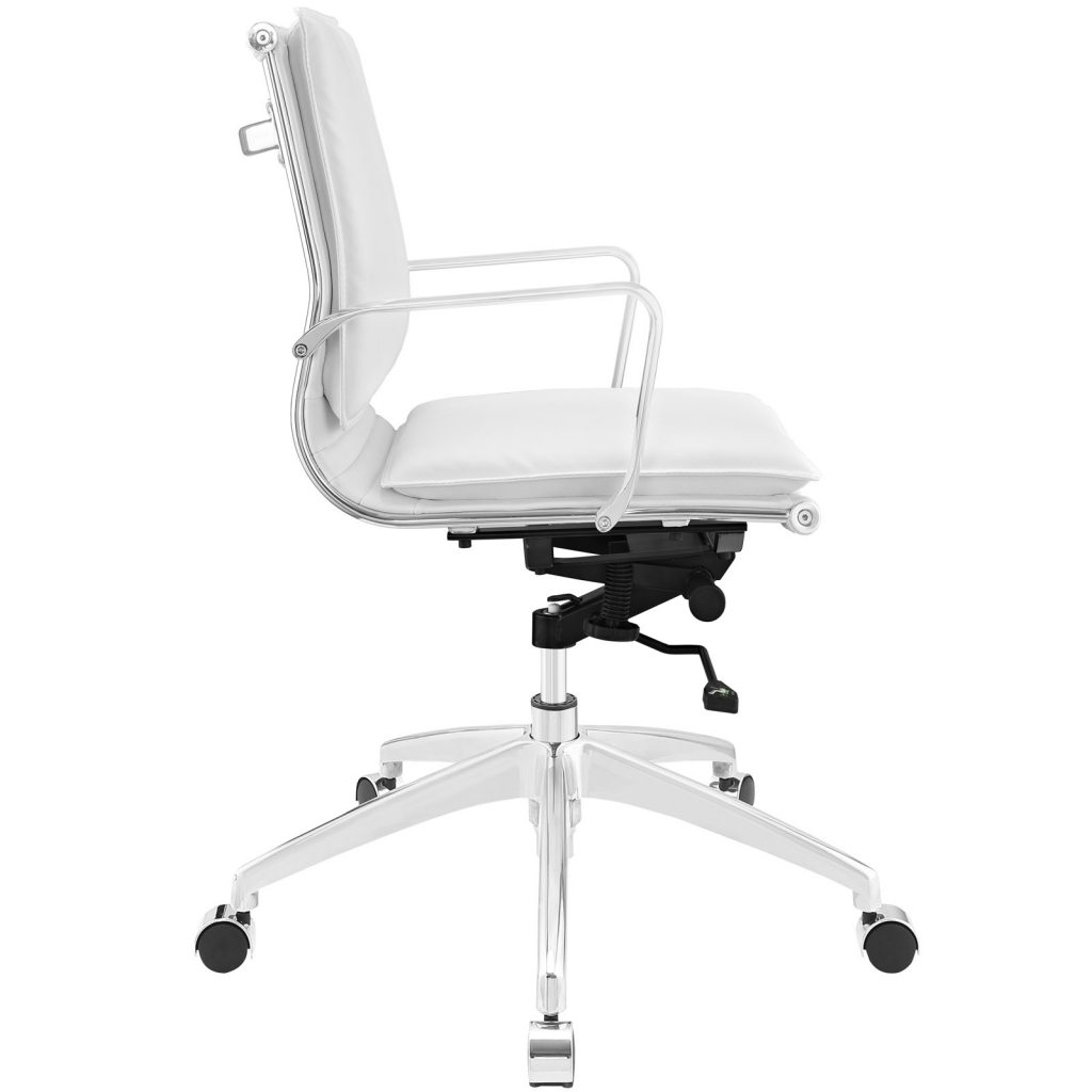 Instant Agent Low Back White Office Chair 2
