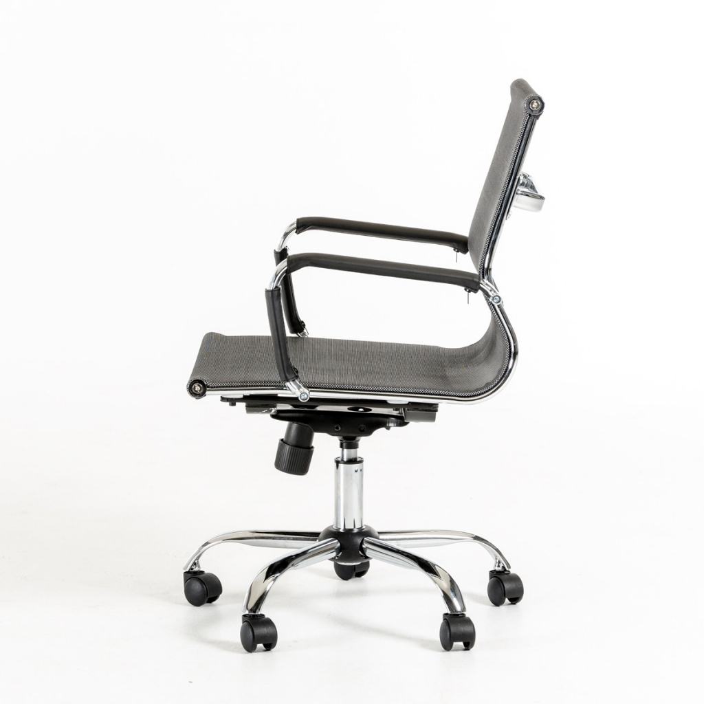 Instant Organizer Mid Back Gray mesh Office Chair
