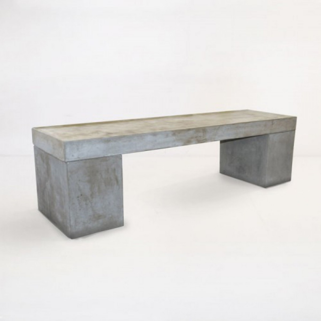 Large Concrete indoor outdoor bench