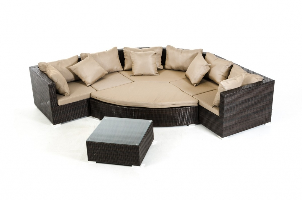 Madrid 7 piece outdoor set taupe