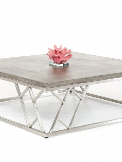 Modern Concrete Chrome Coffee Table 461x614