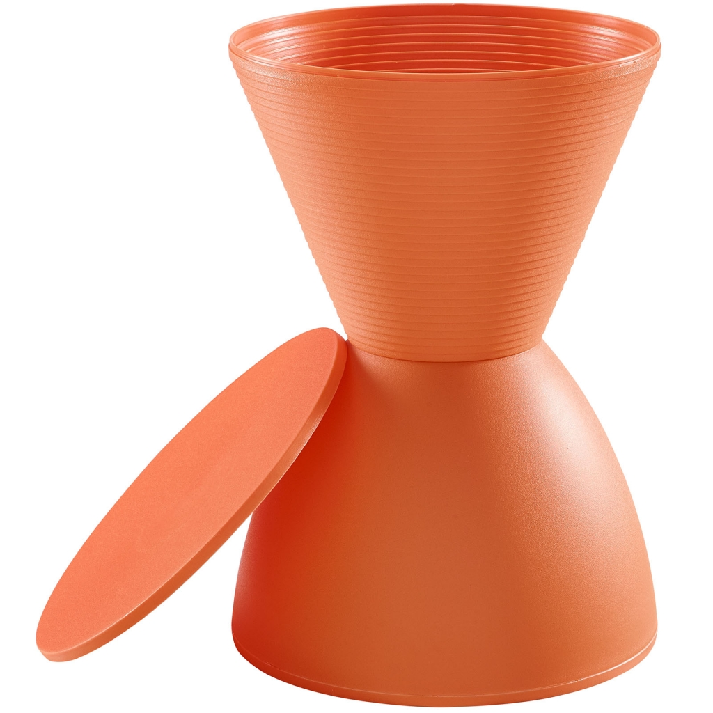 Orange Yogi Storage Stool 3