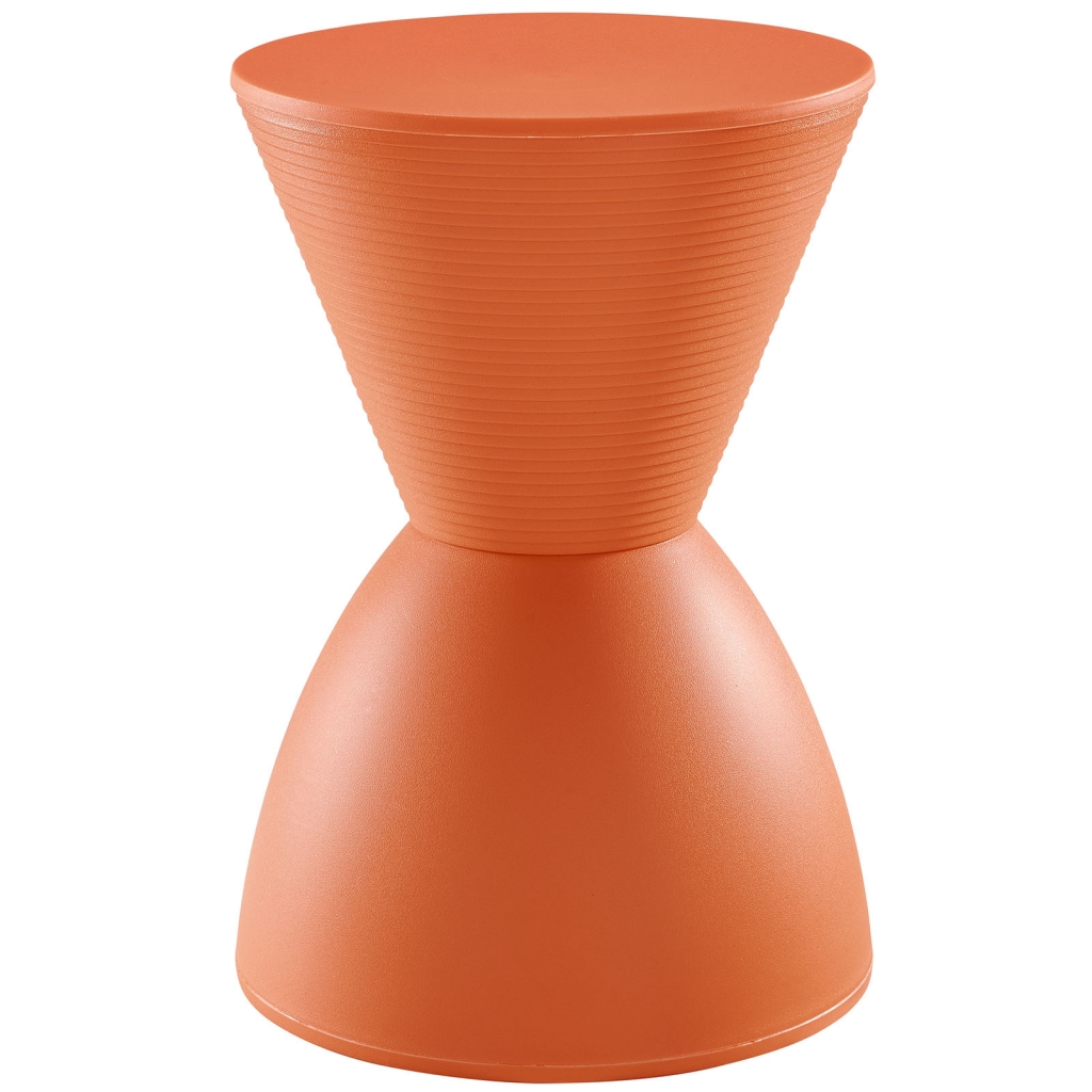 Orange Yogi Storage Stool