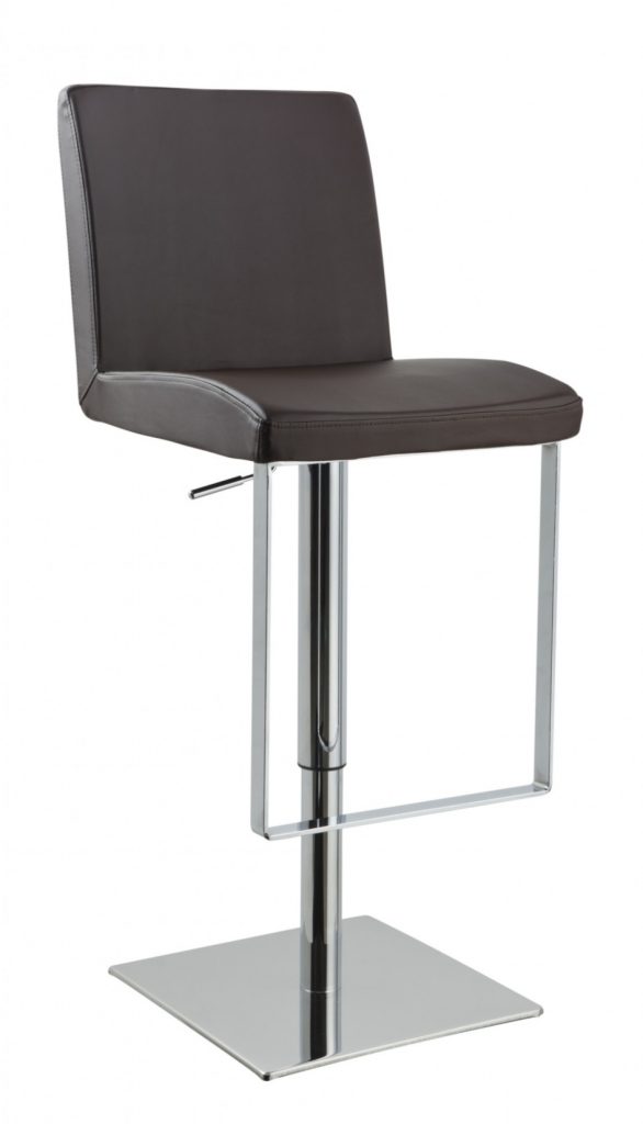 Parker Brown Leather Barstool