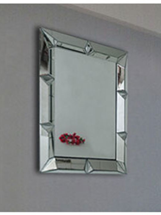 Rivet Square Wall Mirror Modern Furniture Brickell