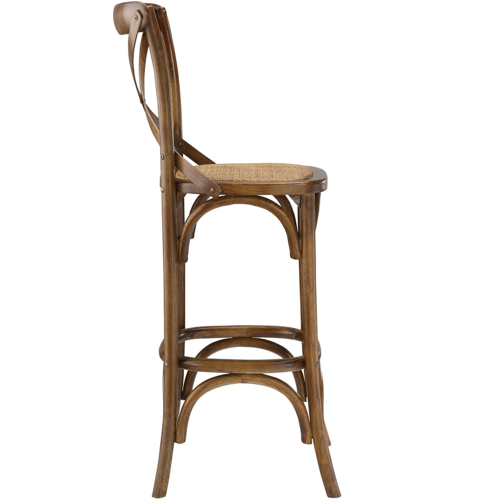 X Walnut Wood Barstool 2