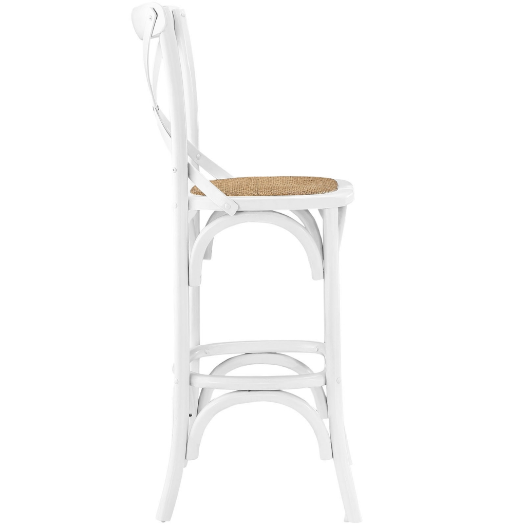 X White Wood Barstool 2