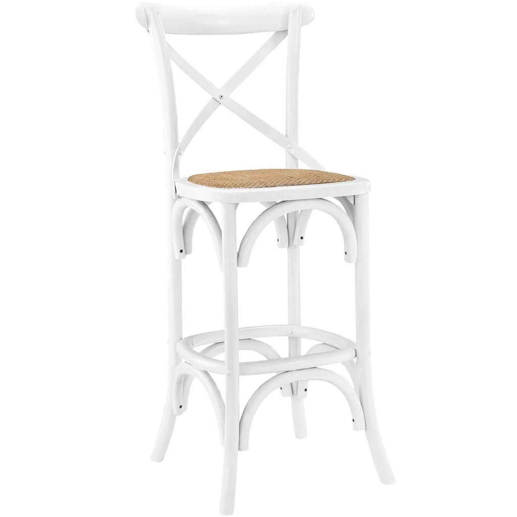 X White Wood Barstool 3