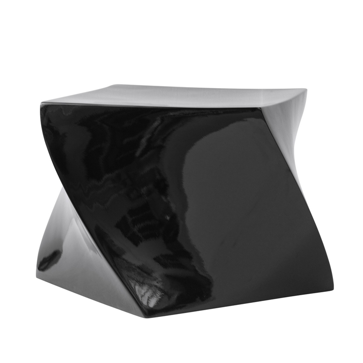 black geo stool 3