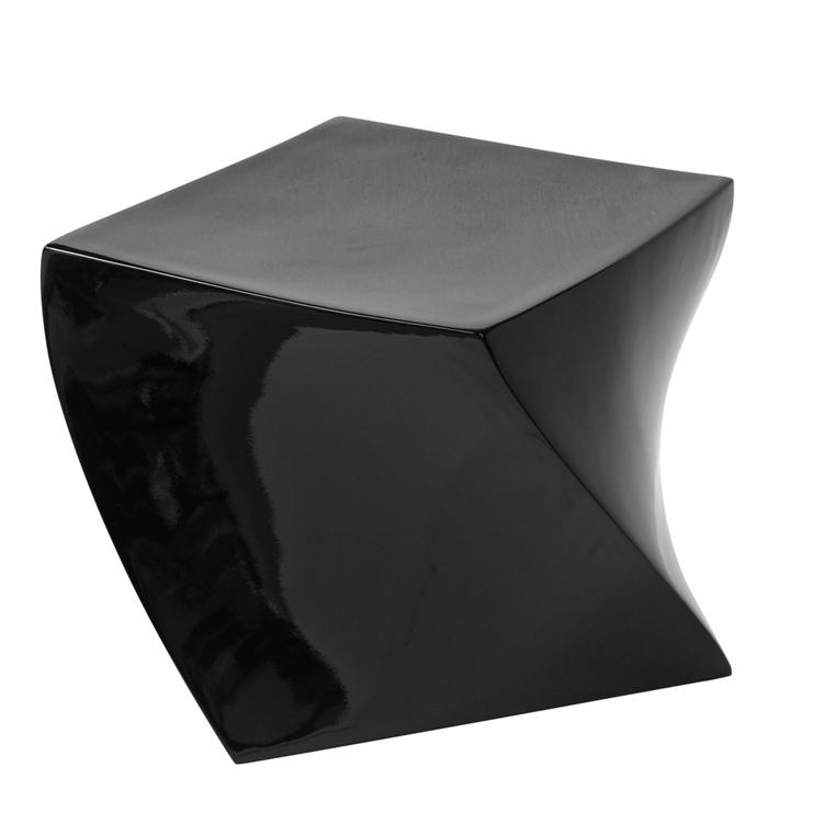 black geo stool