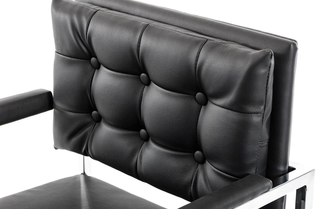 black leather directors barstool 3