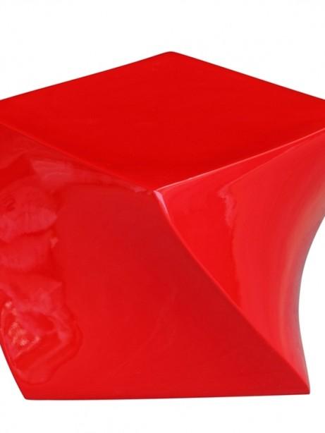 red geo stool 461x614
