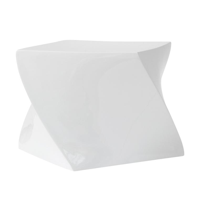 white geo stool 2