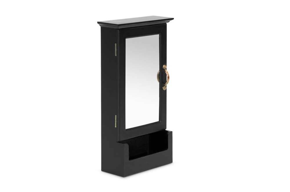 Mirror Black Wall Cabinet