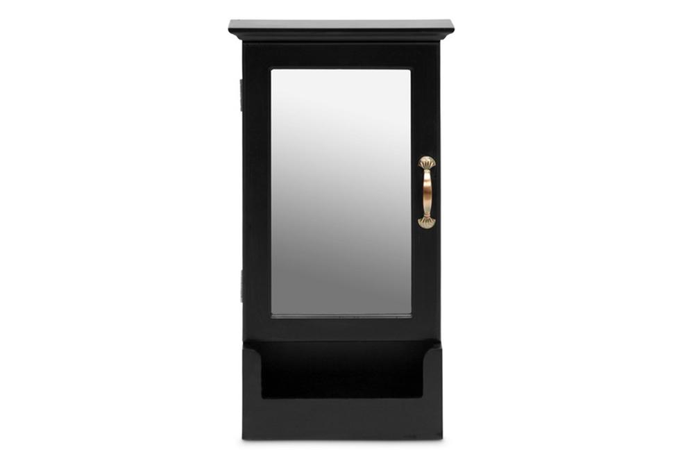 Mirror Wall Cabinet Black