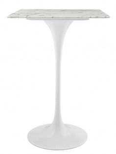 White Marble Square Bar Table 237x315