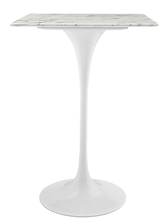 White Marble Square Bar Table