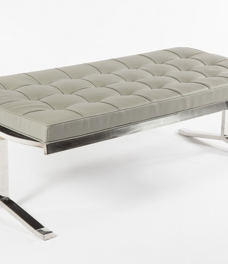 modern lounge gray statement bench 2 461x533