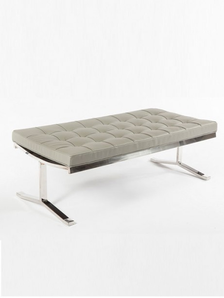 modern lounge gray statement bench 461x614