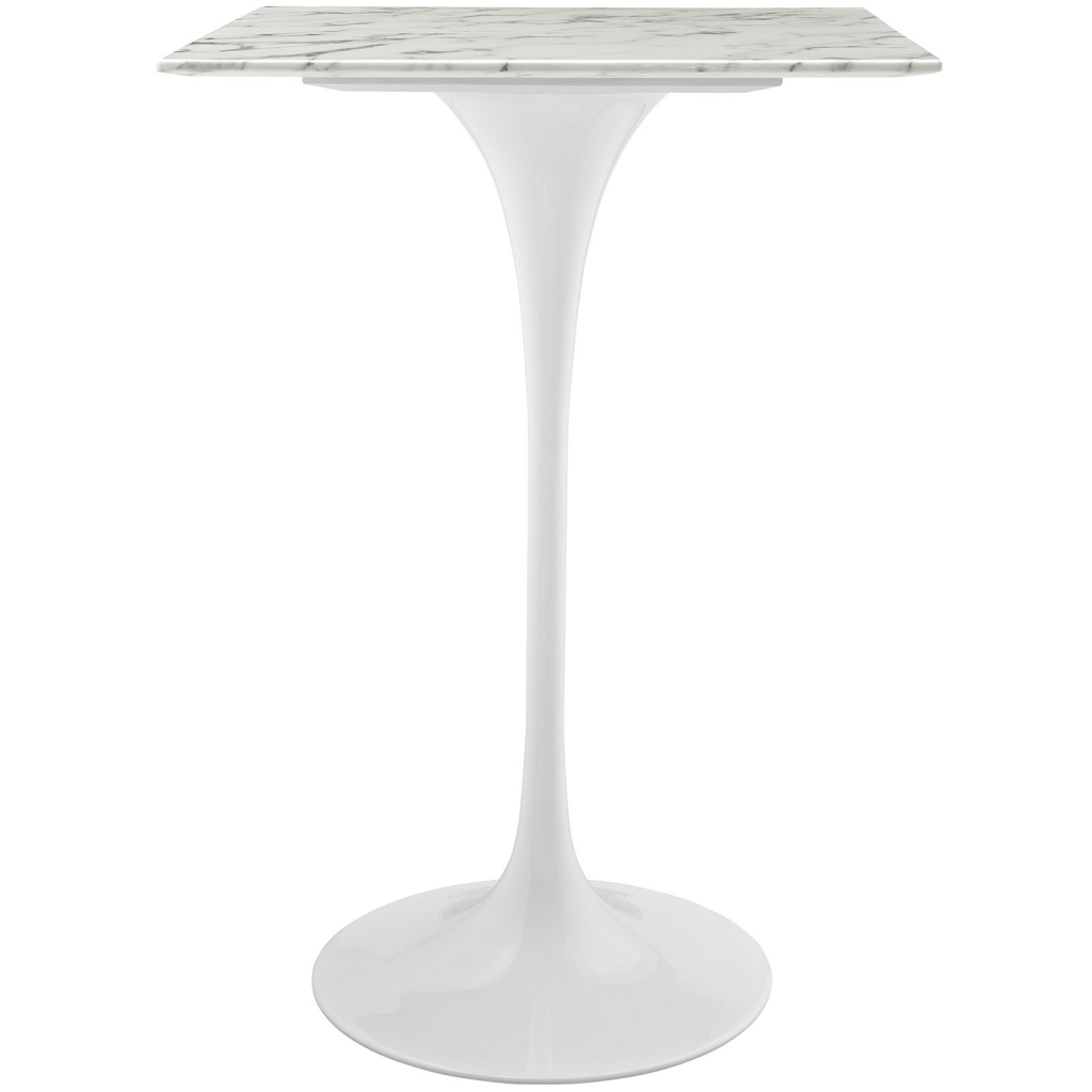 square white marble bar table
