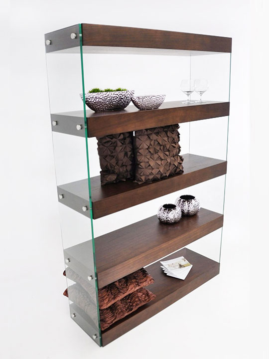 Architecture Walnut Wood Bookshelf