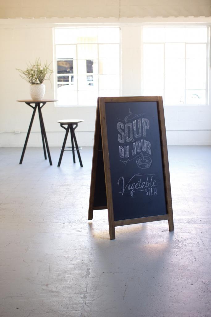 Chalk Board Framed Sign
