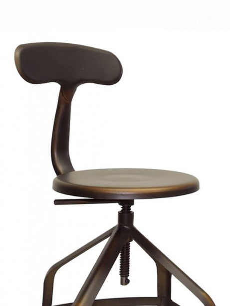 Connoisseur Copper Barstool with Backrest 2 461x614