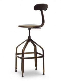 Connoisseur Copper Barstool with Backrest 237x315