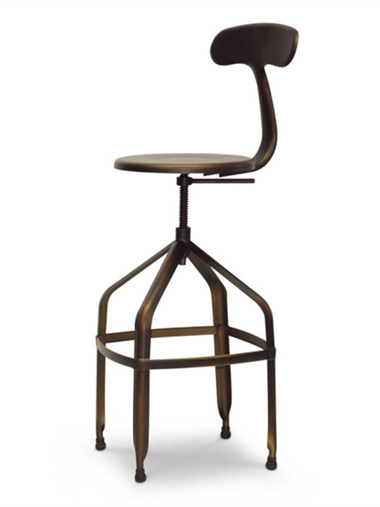 Connoisseur Copper Barstool with Backrest