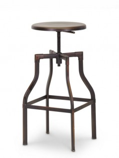 Copper Industrial Barstool 237x315