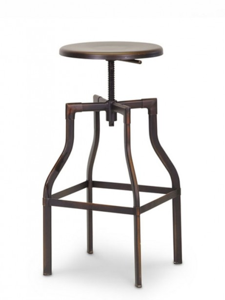Copper Industrial Barstool 461x614