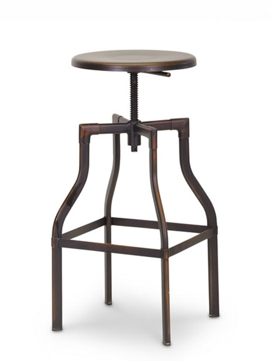 Copper Industrial Barstool