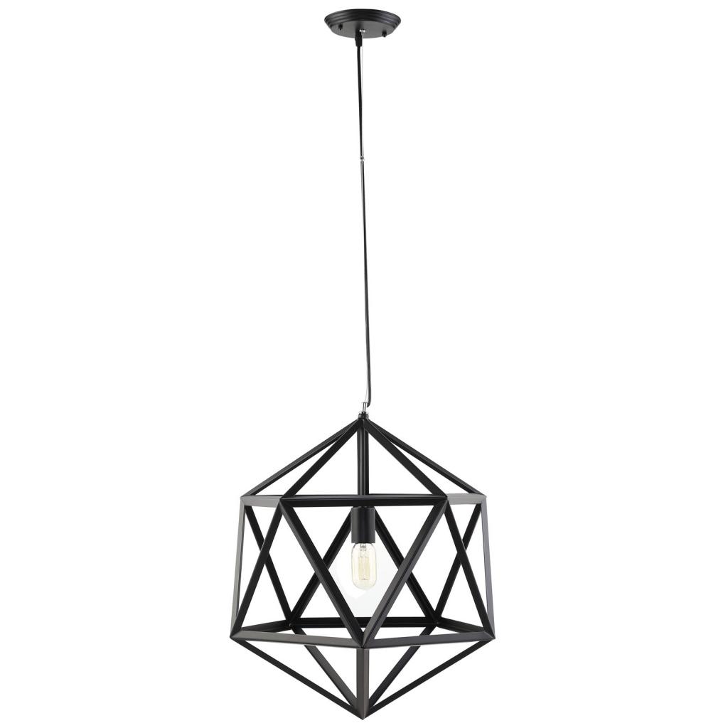 Hexagon black metal chandelier modern furniture brickell collection hexagon black metal chandelier 1 aloadofball Image collections