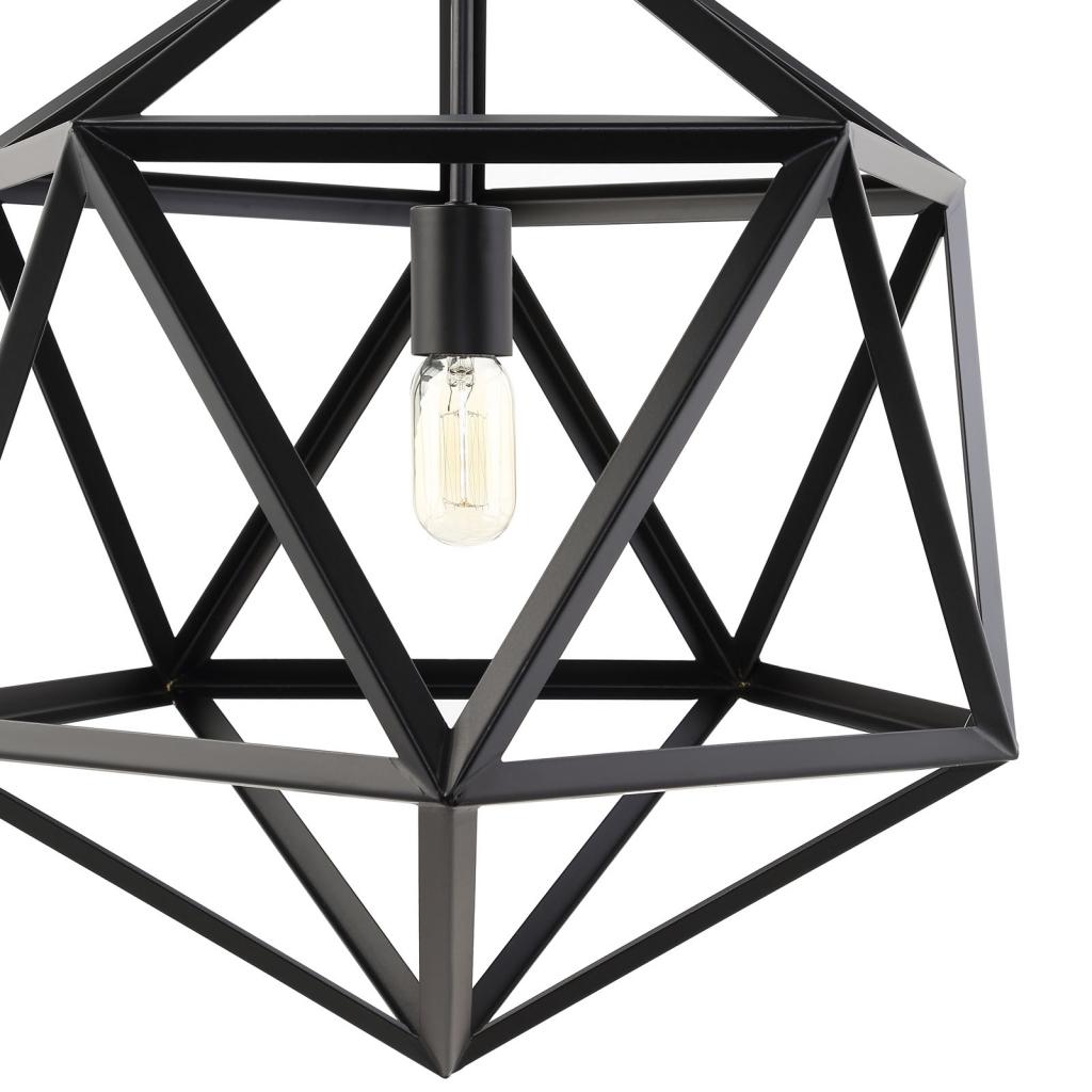 Hexagon Black Metal Chandelier 2