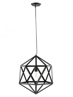 Hexagon Black Metal Chandelier 237x315