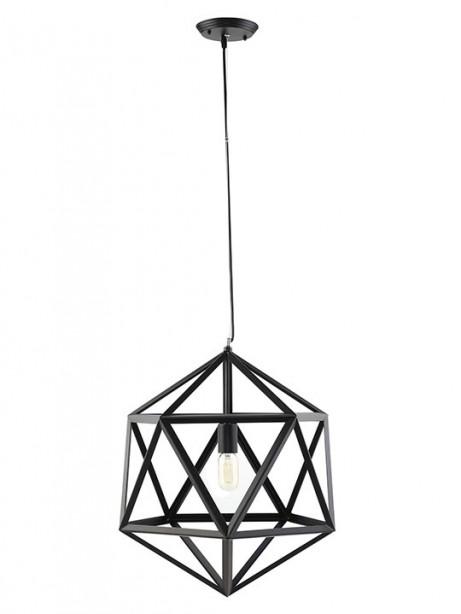 Hexagon Black Metal Chandelier 461x614