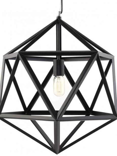 Hexagon Cage Black Metal Chandelier 461x614