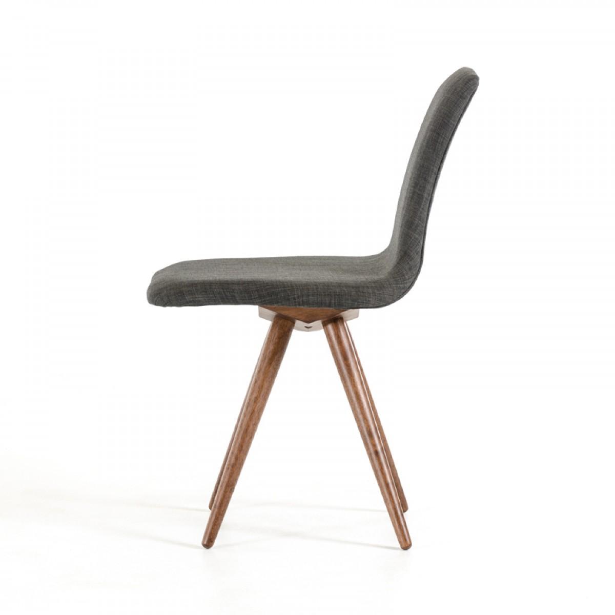 jetson mid century gray fabric chair 7