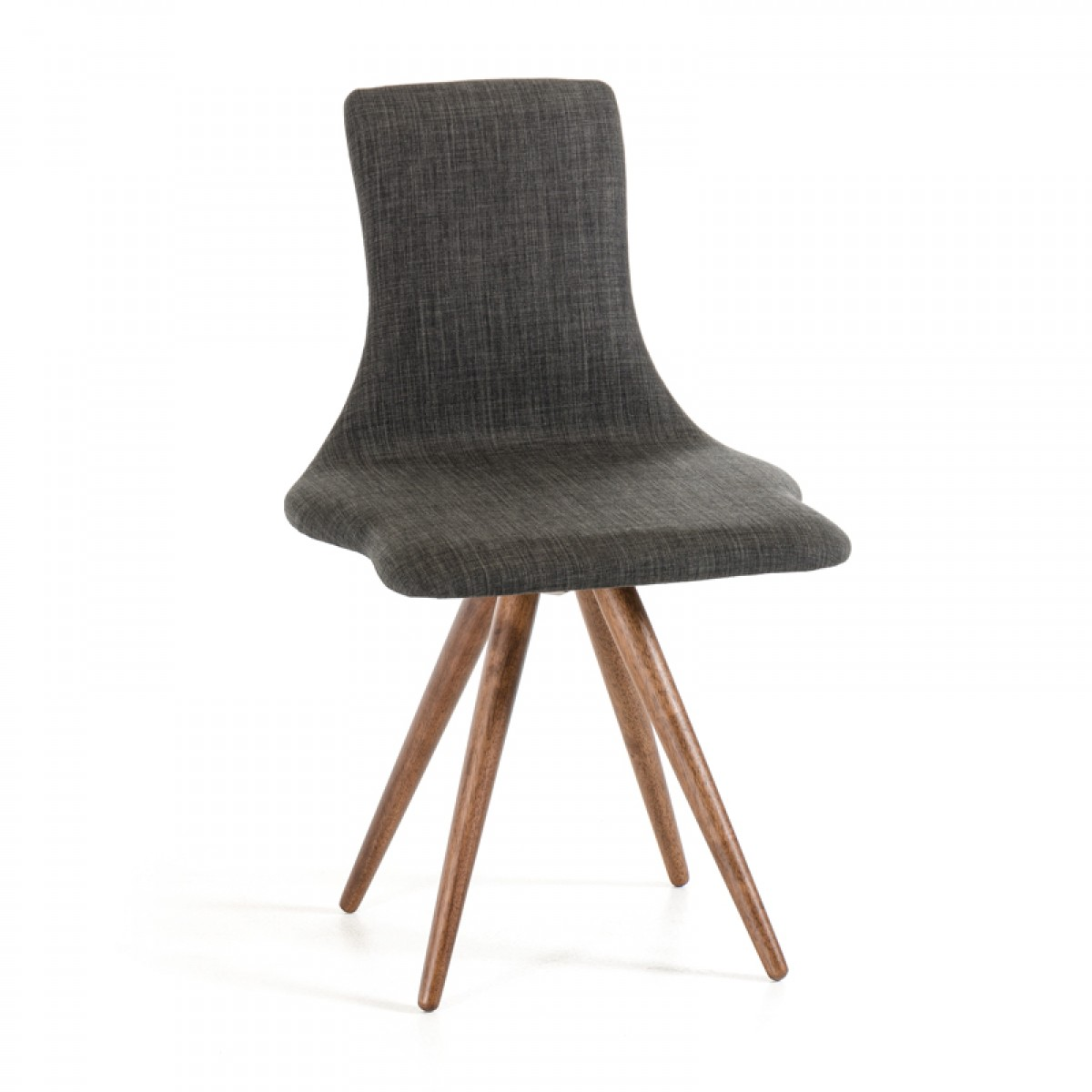 jetson mid century gray fabric chair
