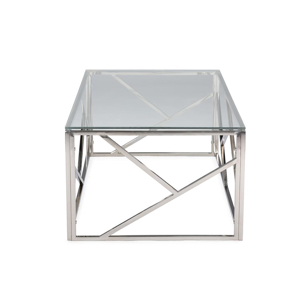 Aero Chrome Glass Coffee Table 3