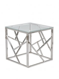 Aero Chrome Glass Side Table 237x315