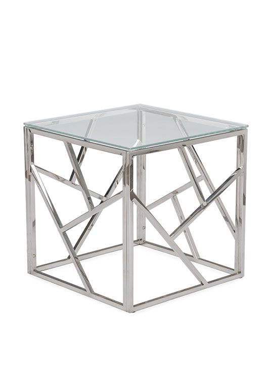 Aero Chrome Glass Side Table