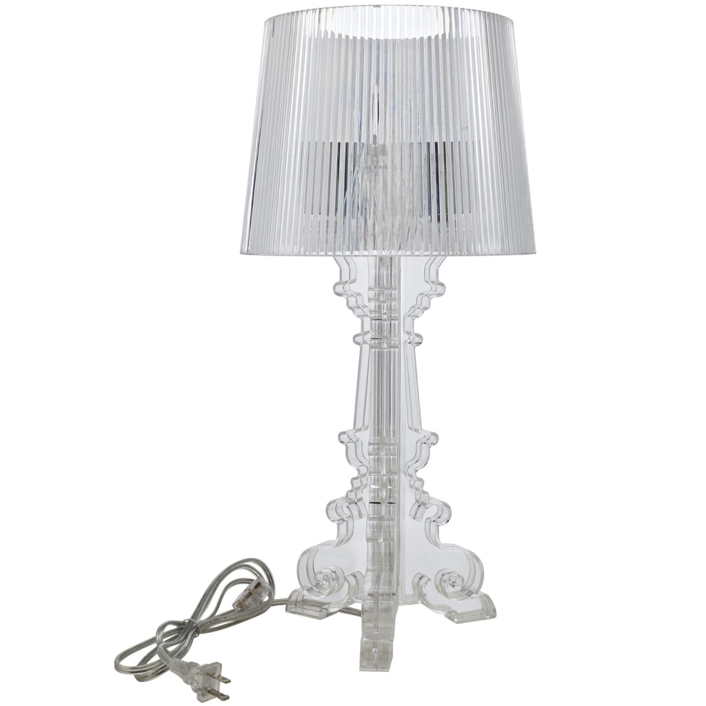 Acrylic table lamp medium modern furniture brickell collection clear acrylic table lamp medium aloadofball Image collections