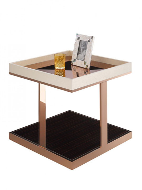 Faceted Rose Gold Side Table